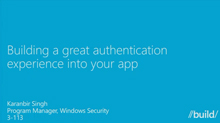 Building a Great Authentication Experience into Your App