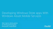 Build Connected Windows 8.1 Apps with Mobile Services