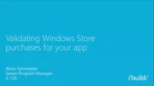 Validating Windows Store Purchases for Your App