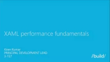 XAML Performance Fundamentals