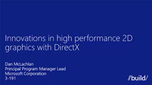 Innovations in High Performance 2D Graphics with DirectX