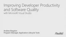 Improving Developer Productivity and Software Quality With Visual Studio Application Lifecycle Tools