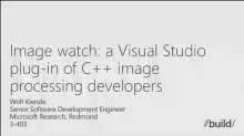 MSR and Visual Studio: Image Watch, Smart Programming Assistant