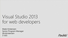Visual Studio 2013 for Web Developers: Deep Dive