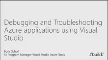 Debugging and Troubleshooting Windows Azure Applications Using Visual Studio