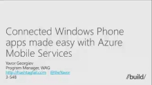 Connected Windows Phone Apps Made Easy with Azure Mobile Services