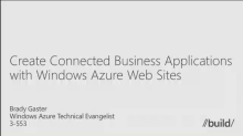 Create Connected Business Applications with Windows Azure Websites