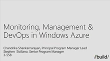 Monitoring, Management & DevOps in Windows Azure