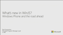 What's New in WinJS: The Road Ahead
