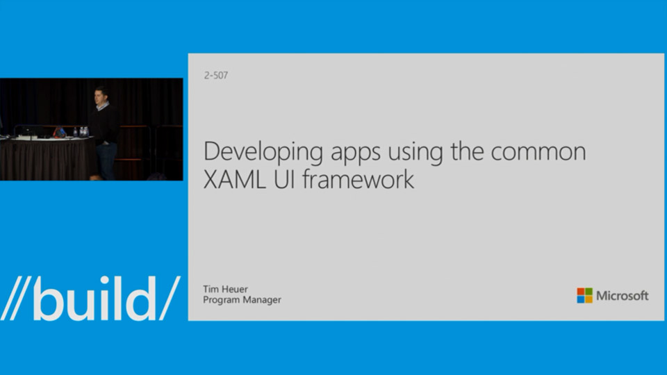 Developing Apps using the Common XAML UI Framework