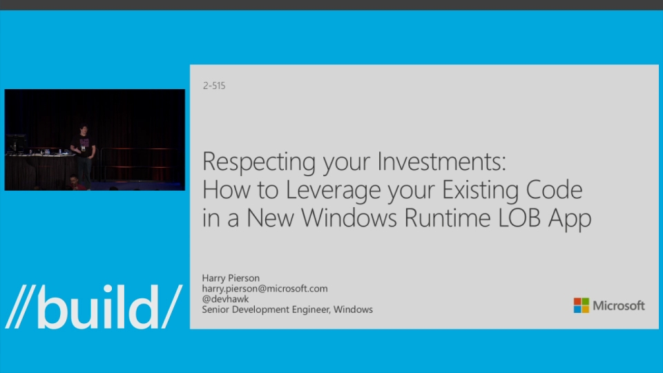 Respecting Your Investments: How to Leverage Your Existing Code In a New Windows Runtime LOB App