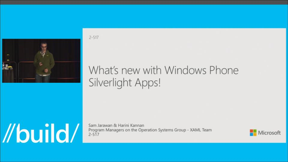 What's New with Windows Phone Silverlight Apps!