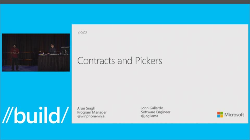 Contracts and Pickers: Building Apps that Work Together on Windows