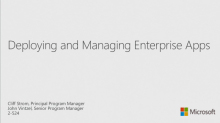 Deploying and Managing Enterprise Apps