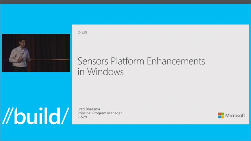 Sensors Platform Enhancements in Windows Phone