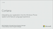 Integrating Your App into the Windows Phone Speech Experience