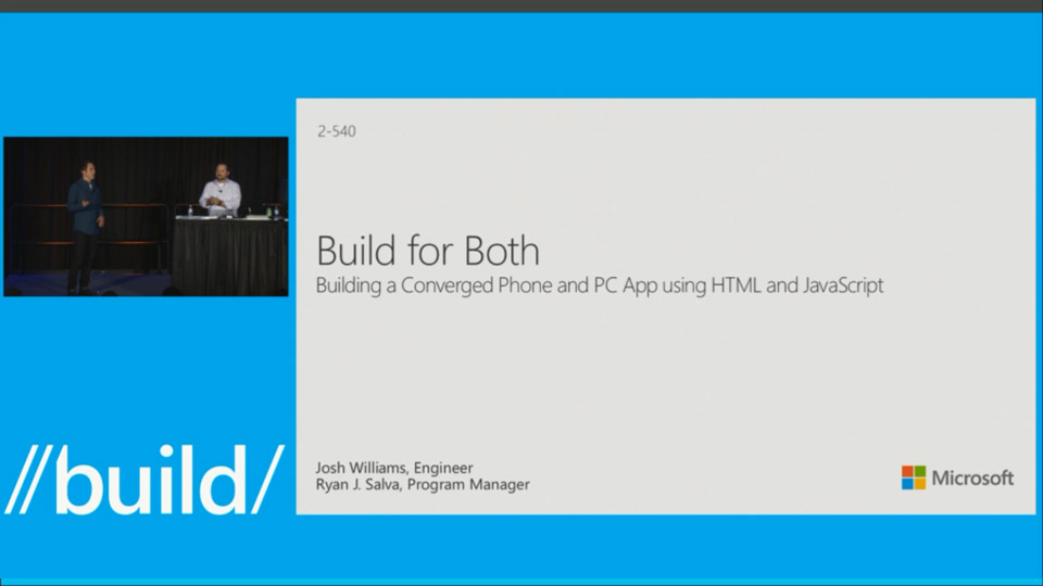 Building a Converged Phone and PC App using HTML and JavaScript
