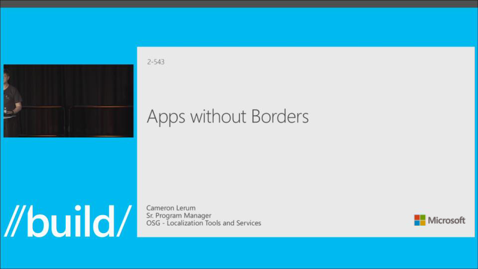 Apps without Borders - Winning Globally with the Windows Platform