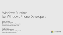 Windows Runtime for Windows Phone Developers