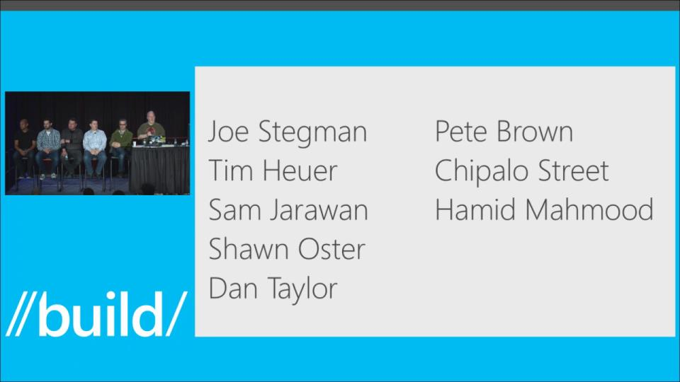XAML Platform Leadership Team: A Panel Discussion