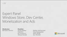 Windows Store, Dev Center, Monetization and Ads: A Panel Discussion