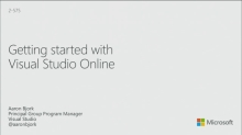 Getting Started with Visual Studio Online