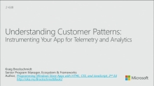 Understanding Customer Patterns: Instrumenting an App for Telemetry and Analytics