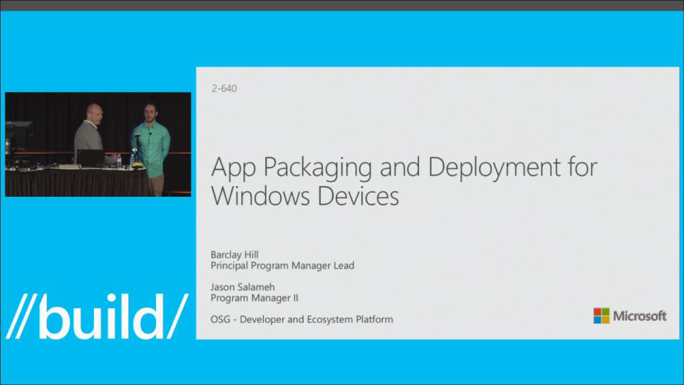 App Packaging and Deployment for Windows Devices