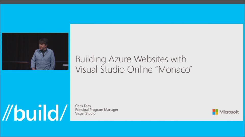 "Building Azure Web Sites with Visual Studio Online ""Monaco"""