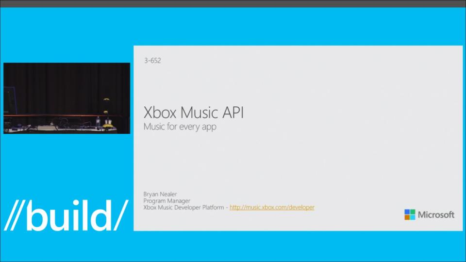 Xbox Music API – Music for Every App