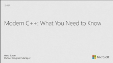 Modern C++: What You Need to Know