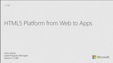 HTML5 Platform from Web to Apps
