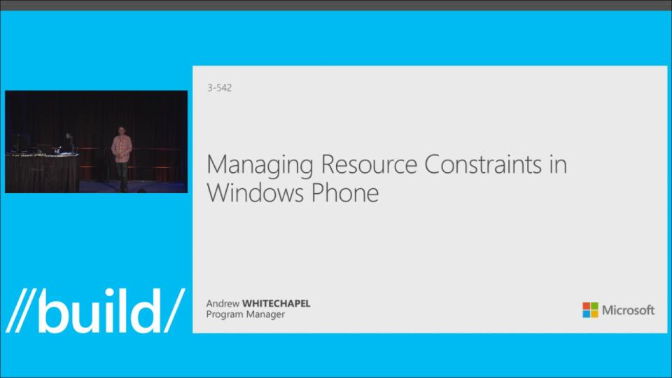 Managing Resource Constraints on Windows Phone