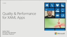 Quality and Performance for XAML Apps