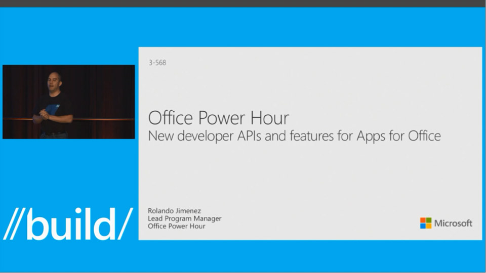Office Power Hour - New Developer APIs and Features for Apps for Office