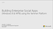 Building Enterprise Social Apps with Yammer