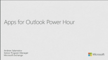 Apps for Outlook Power Hour