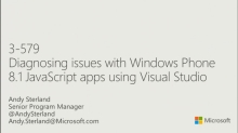 Diagnosing Issues with Windows Phone JavaScript Apps Using Visual Studio