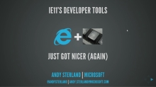 Internet Explorer 11's Developer Tools, F12, Just Got Nicer (Again)