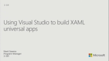 Using Visual Studio to Build XAML Converged Apps