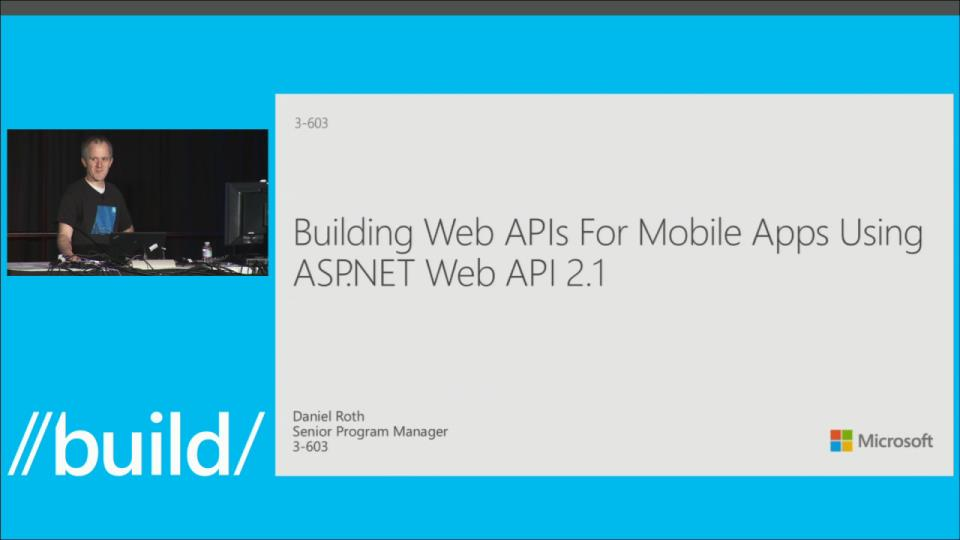 Building Web APIs for Mobile Apps Using ASP.NET Web API 2.1
