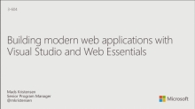 Building Modern Web Applications with Visual Studio and Web Essentials