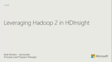 Leveraging Hadoop 2 in Azure HDInsight