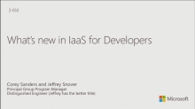 What's New in IaaS for Developers