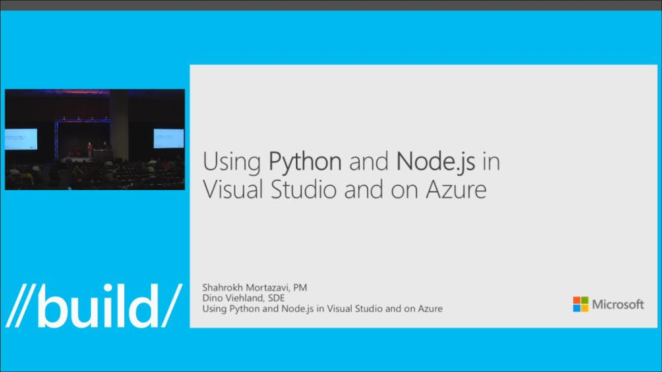 Using Node.js and Python in Visual Studio and on Azure