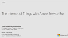 Internet of Things with Azure Service Bus