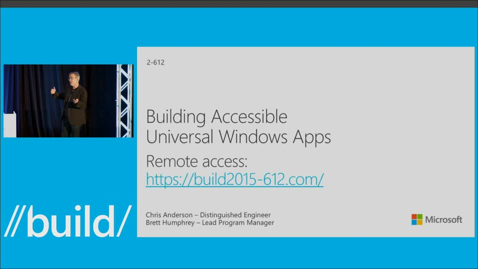 Building Accessible Universal Windows Apps