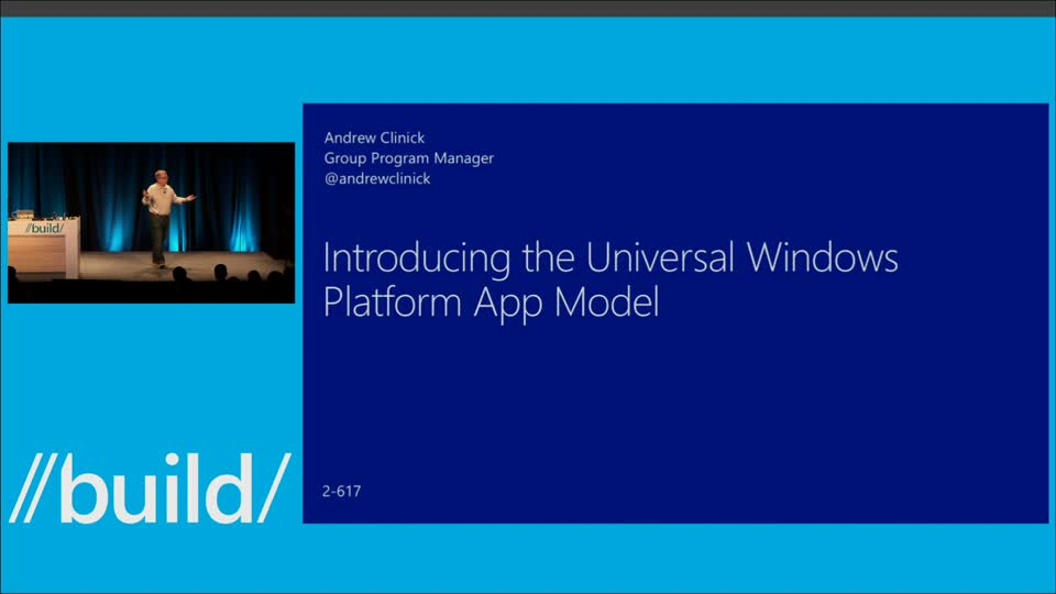 Introducing the Windows 10 App Model
