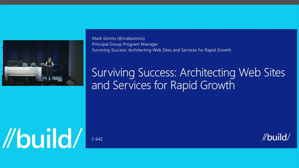 Surviving Success: Architecting Web Sites and Services for Rapid Growth