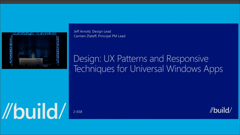 Design: UX Patterns and Responsive Techniques for Universal Windows Apps